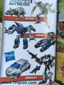 【TF漫谈】变形金刚30周年Generations系列Tankor、Crosscut玩具造型曝光